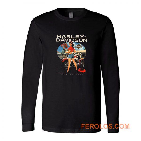 Sexy Girl Harley Davidson Long Sleeve
