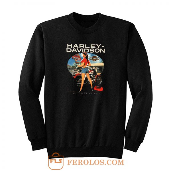 Sexy Girl Harley Davidson Sweatshirt