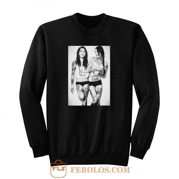 Sexy Girl Laugh Retro Sweatshirt