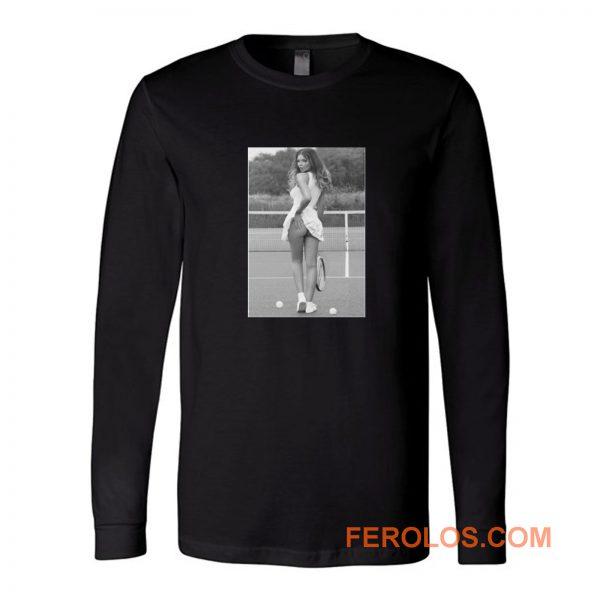 Sexy Girl Tennis Player Sports Long Sleeve