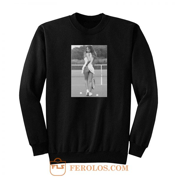 Sexy Girl Tennis Player Sports Sweatshirt