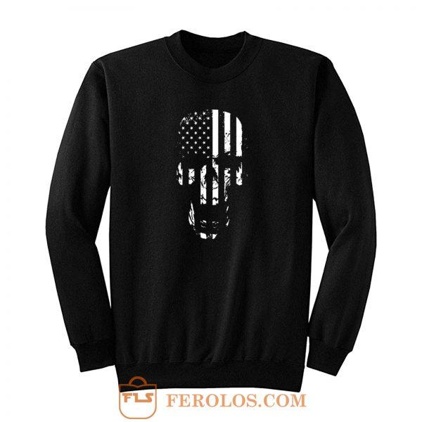 Skull Flag American Sweatshirt