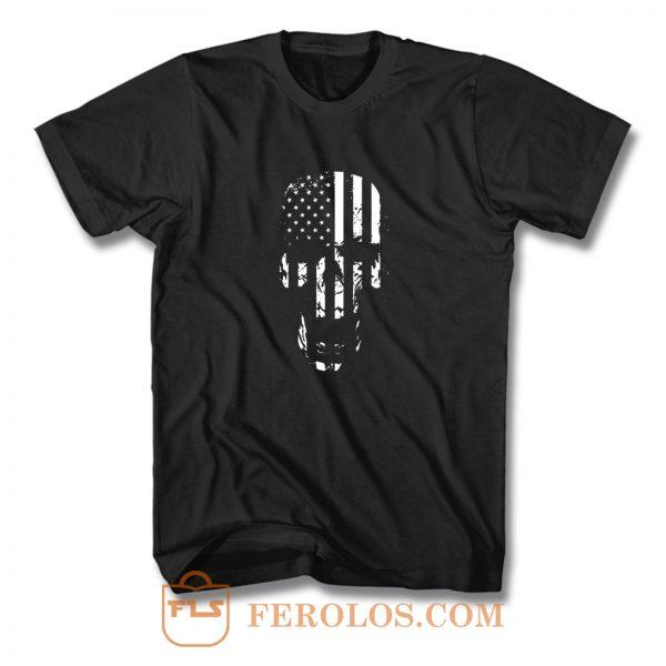 Skull Flag American T Shirt