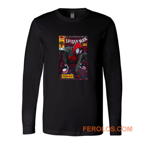 Spiderman Portrait Spiderverse Long Sleeve