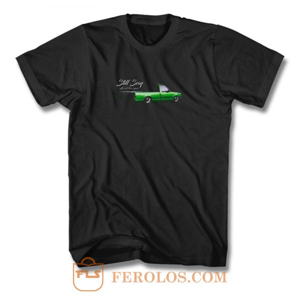 Still Sexy Green Mini Truck Retro T Shirt