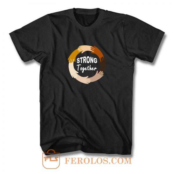 Strong Together All Lives Matter Funny Hands Graphic T Shirt