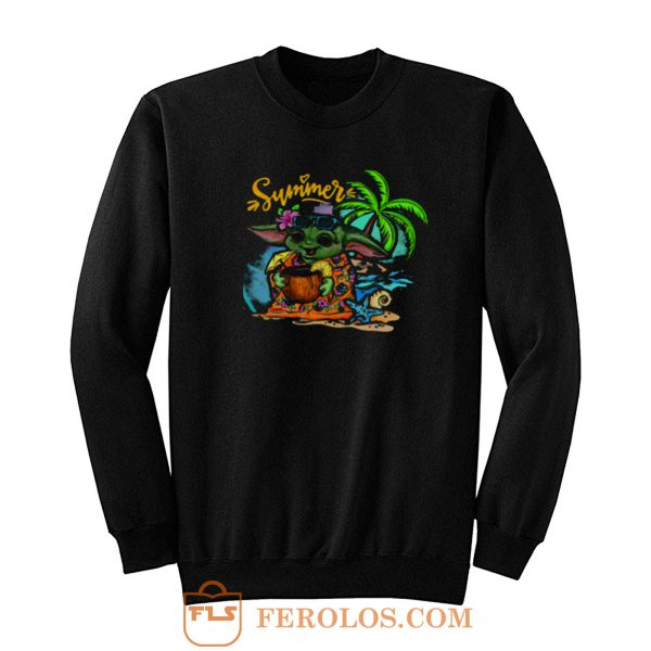 Summer Beach Yoda Sweatshirt