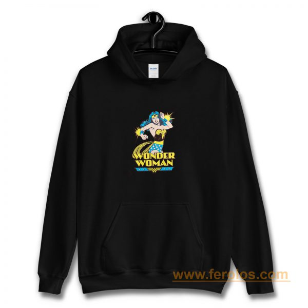Super Hero Girl Retro Wonder Woman Hoodie