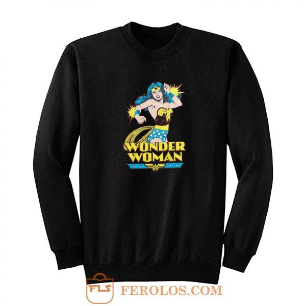 Super Hero Girl Retro Wonder Woman Sweatshirt