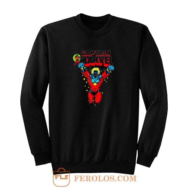 Superhero Comic Retro Captain Marvel Sweatshirt