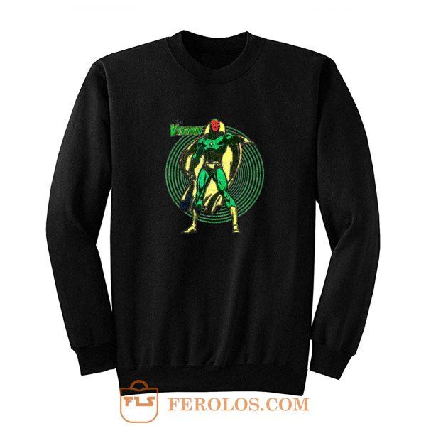 Superhero Comic Retro The Vision Sweatshirt