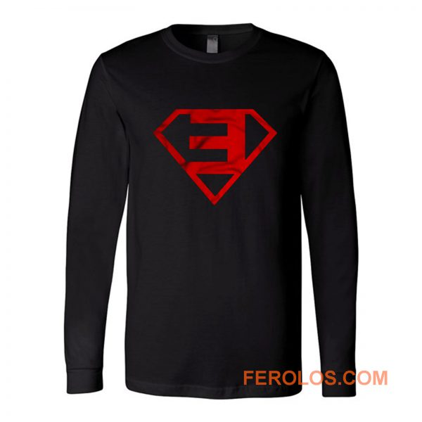 Superman Eminem Rap Hip Hop Long Sleeve