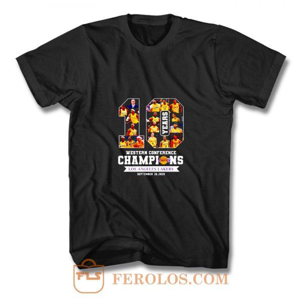 Ten Years Champions Lakers T Shirt