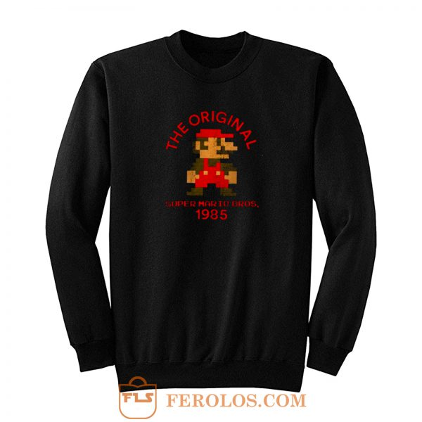 The Original Super Mario Nintendo Old But Cool Sweatshirt