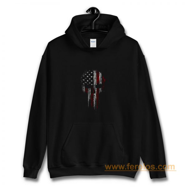 Usa American Military Skull Hoodie