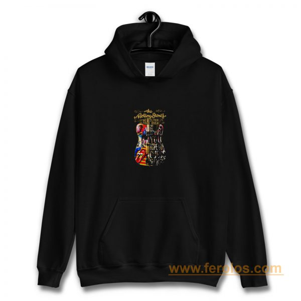 Usa The Rolling 2019 Stones No Filter Guitar Tour Hoodie