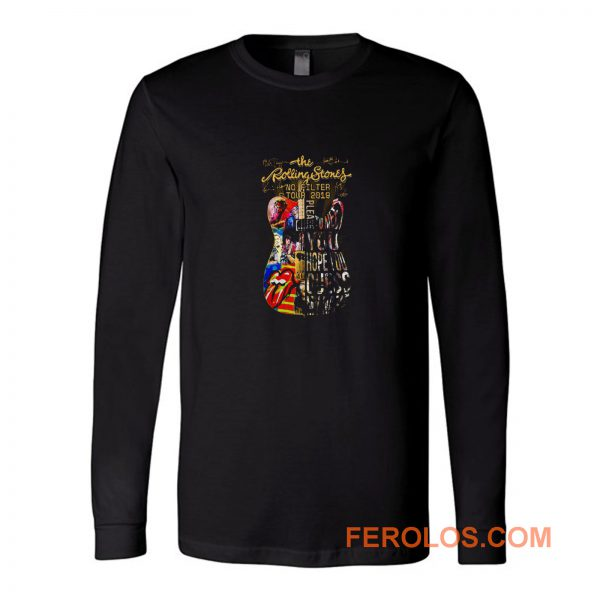 Usa The Rolling 2019 Stones No Filter Guitar Tour Long Sleeve