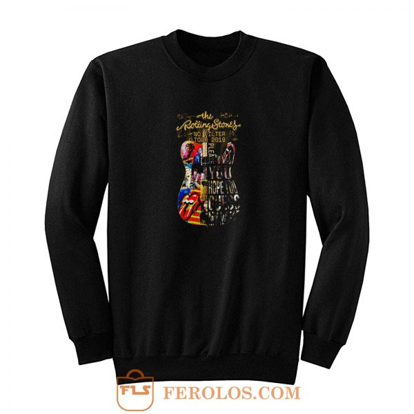 Usa The Rolling 2019 Stones No Filter Guitar Tour Sweatshirt