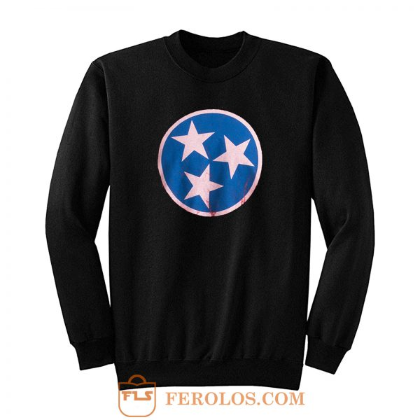 Vintage Distressed Effect Tennesseean Sweatshirt