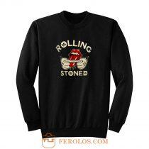 Weed Marijuana Rolling Stoned Pot Sweatshirt