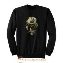 Weed Marijuana Skull Smoking Sweatshirt