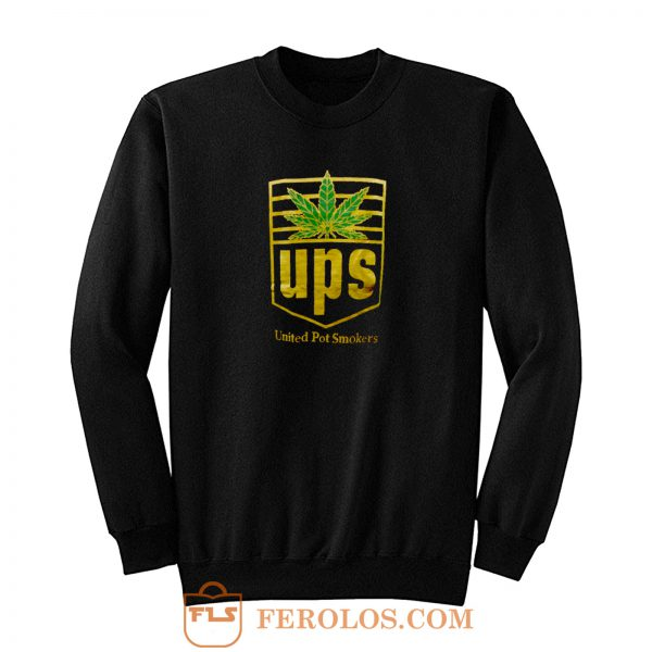 Weed Marijuana United Pot Smoker Sweatshirt