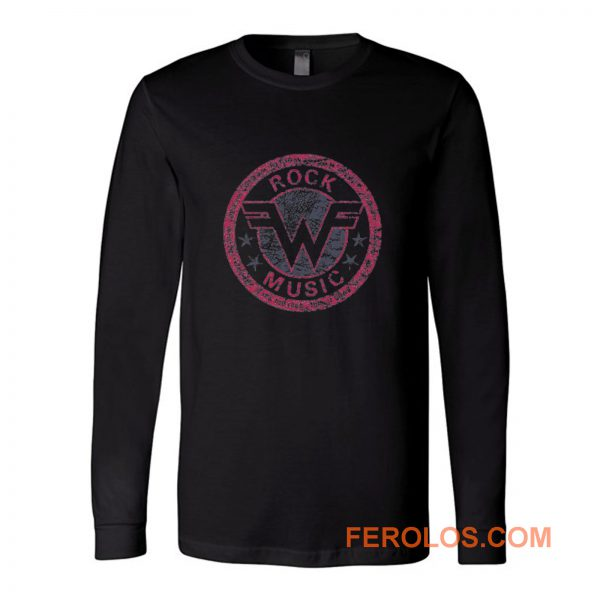 Weezer Logo Retro Rock Music Long Sleeve