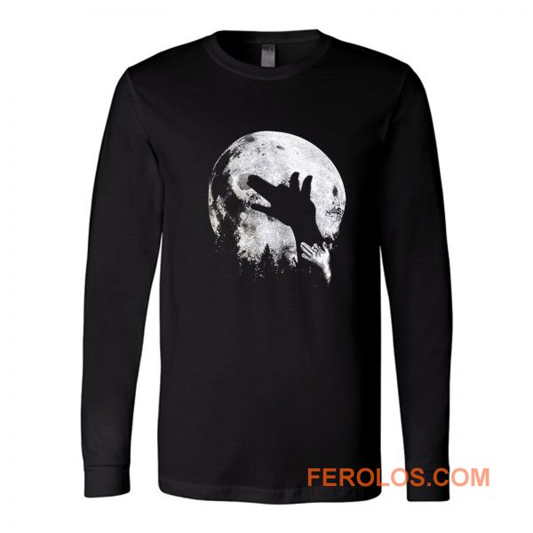 Wolf Shadow Puppet Unique Moon Outdoor Hike Camp Long Sleeve