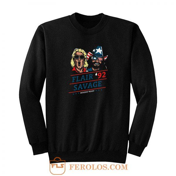 Woo Yeah Flair Savage Retro Sweatshirt