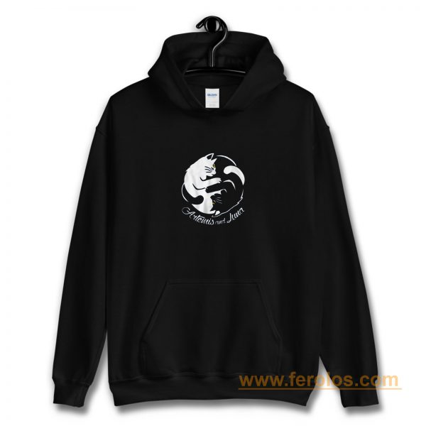 Yin Yang Cats Artemis And Luna Sailormoon Hoodie