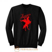 Zorro Red Horse Movie Character Sweatshirt