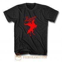 Zorro Red Horse Movie Character T Shirt