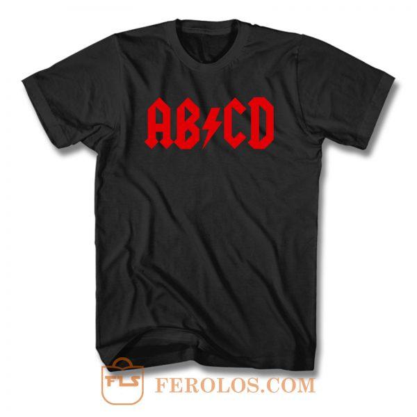 Abcd Rock Parody T Shirt