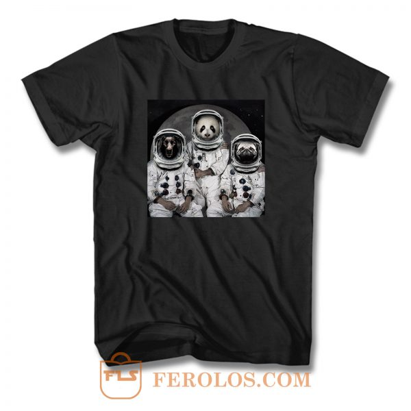 Astronaut Animals Group T Shirt