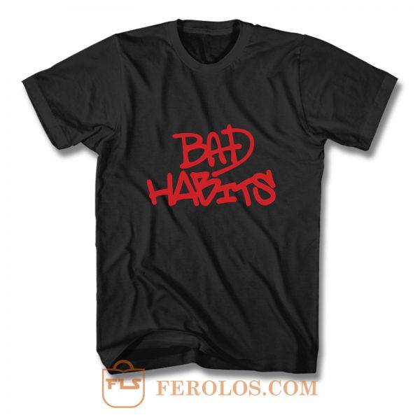 Bad Habits Vlone Logo Art T Shirt