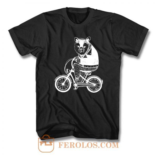 Bear On Bicycle T Shirt