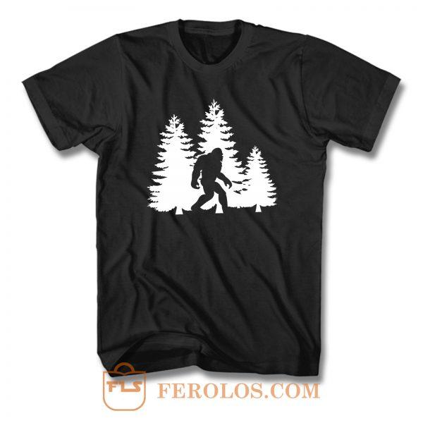 Bigfoot Yeti In The Mountains T Shirt