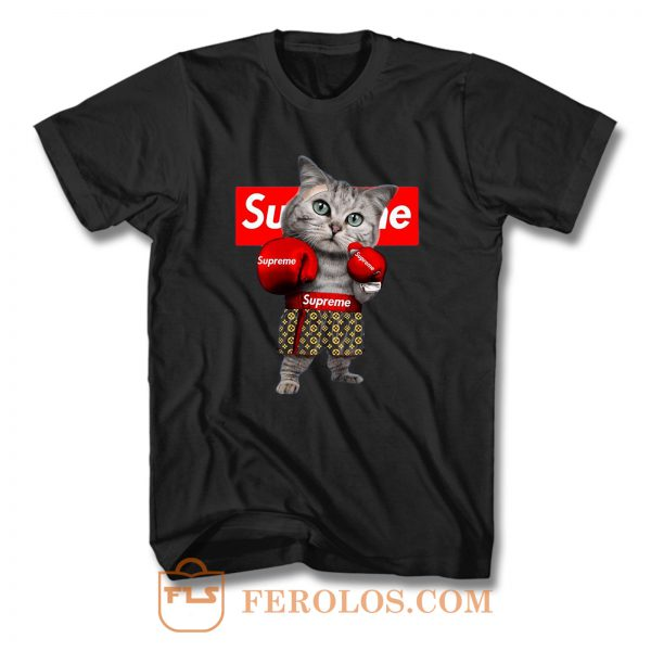 Boxing Cat T Shirt