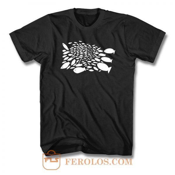 Fish Swarm T Shirt
