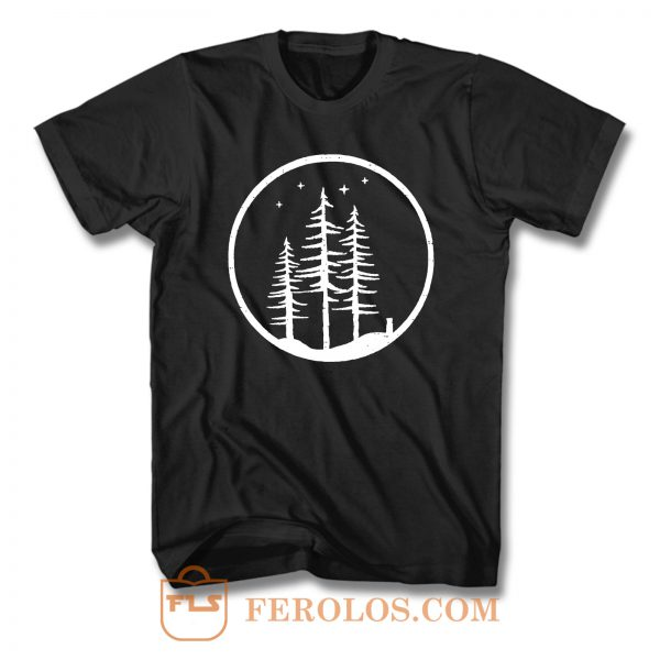Forest Mountain Starry Night T Shirt