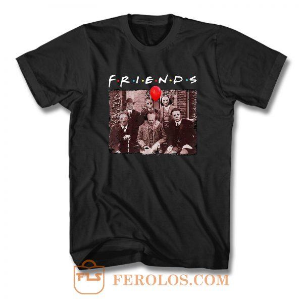 Friends Halloween Horror Team Scary Movies T Shirt