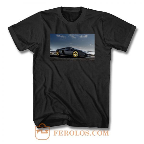 Gold Rims Lamborghini T Shirt