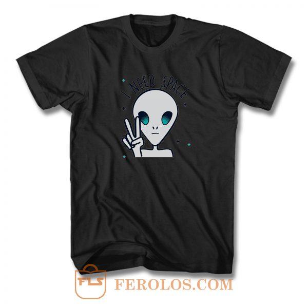 I Need Space Art T Shirt