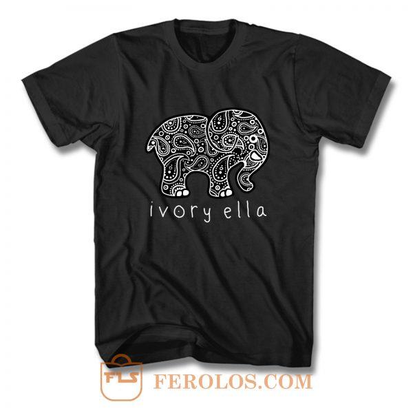 Ivory Ella Logo Parodi T Shirt