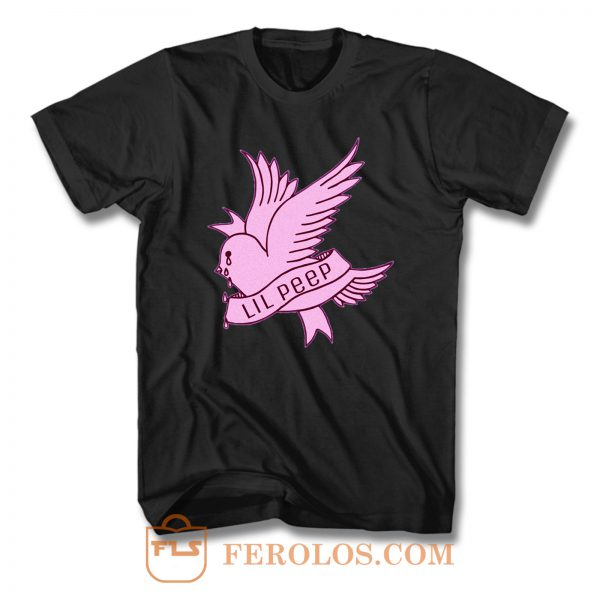 Lil Peep Cry Baby Pink Bird T Shirt