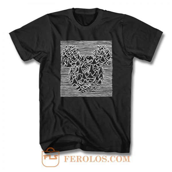 Mickey Mouse Joy Division Unknown Pleasure F T Shirt