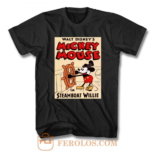 Mickey Mouse in Steamboat Willie Vintage T Shirt