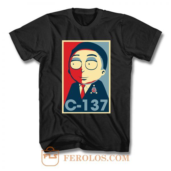 Morty C 137 President F T Shirt
