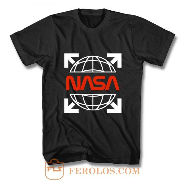 Nasa White Off Logo T Shirt