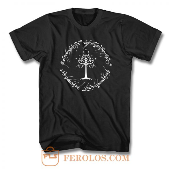 White Tree Gondor Lord Of The Rings T Shirt